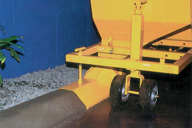 rent concrete curb machine