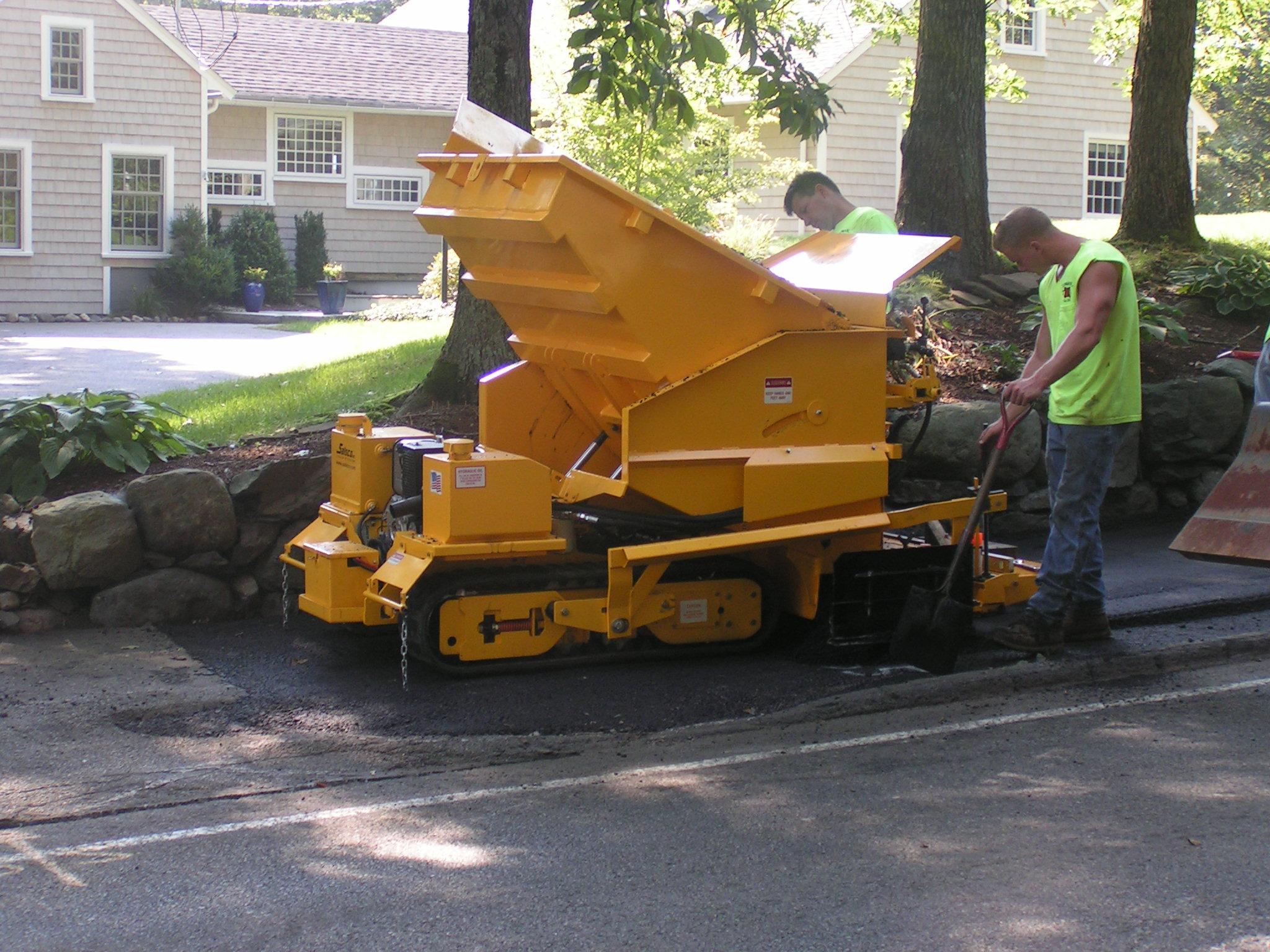 small curb machine